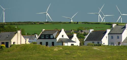 Parc éolien en Bretagne