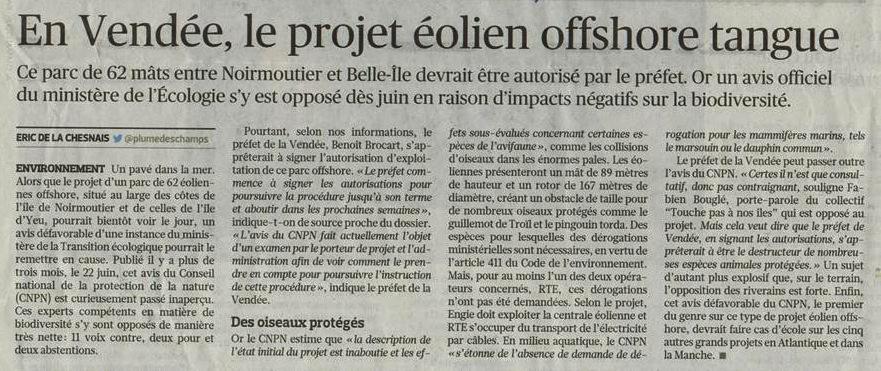 Le Figaro 11 octobre 2018