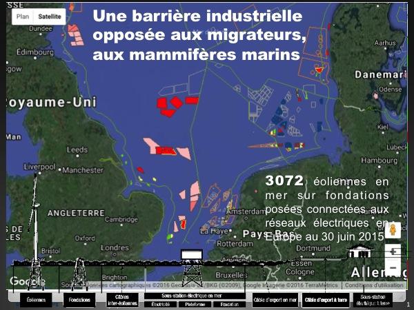 Implantation éolienne en mer du Nord