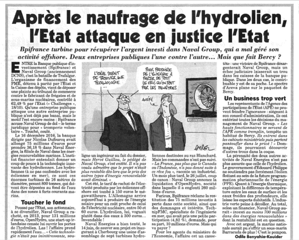 Canard Enchaine 14 novembe 2018